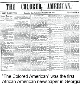 African American Research by popular US professional genealogy services, Lineages: image of the Colored American Newspaper.