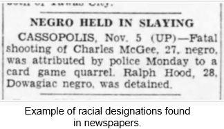 African American Research by popular US professional genealogy services, Lineages: image of African American slaying article.