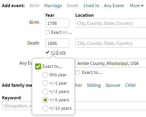 African American Genealogy by popular US professional genealogy services, Price Genealogy: screen shot image of marriage event information.