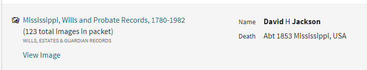 African American Genealogy by popular US professional genealogy services, Price Genealogy: screenshot of African American genealogy record.