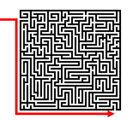 Genetic Genealogy by popular US professional genealogy services, Lineage: image of a maze.