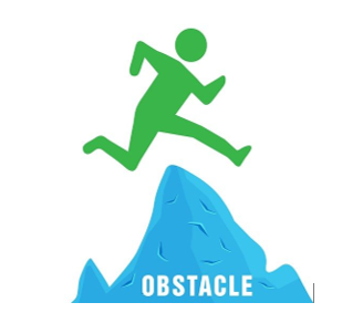 Genetic Genealogy by popular US professional genealogy services, Lineage: image of a green person jumping over a blue obstacle mountain.