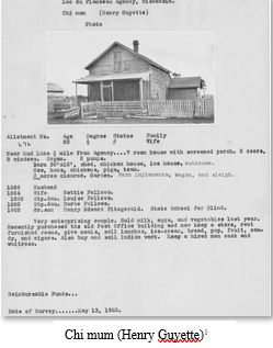 Native American Genealogy by popular US professional genealogy services, Lineages: black and white image of a housing record.