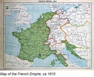Napoleonic Code by popular US professional genealogy services, Lineages: image of a French map.