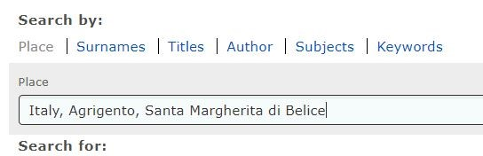 Italian Vital Records by popular US professional genealogy services, Lineages: screenshot image of an ancestry webpage.