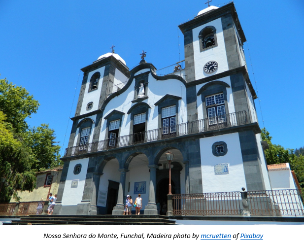 Madeira Research by popular US professional genealogy services, Lineages: image of a white cathedral.