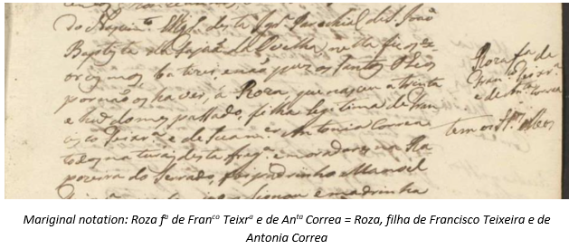 Madeira Research by popular US professional genealogy services, Lineages: image of a Madeira document.