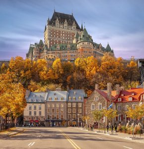 Canada Genealogy by popular US professional genealogy services, Lineages: image of a Canadian hotel.
