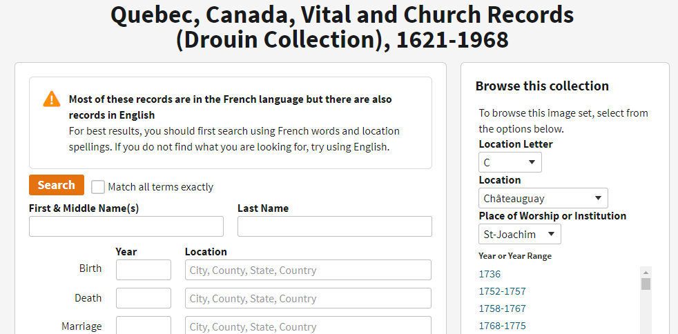 Tanguay Collection and French Quebec genealogy tips featured by top US online genealogists, Lineages